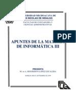 Apuntes Informatica III Lopez Escalera