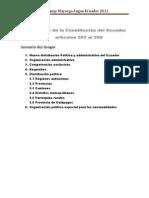 Trabajo de analisis Sobre El Nuevo Ordenamiento Territorial en El Ecuador