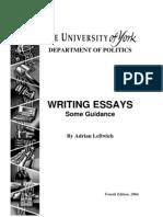 Leftwich - Writing Essays