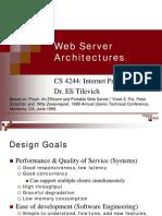 Web Server Architectures