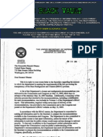Correspondence between the Department of Defense sent to Senator Barack Obama in 2005-2008