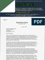 Correspondence between Senator Barack Obama sent to the Department of Defense 2005-2008