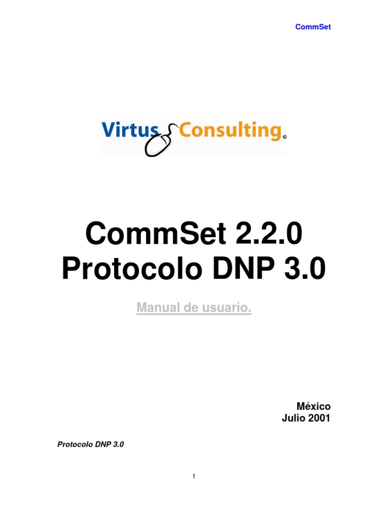 DNP 3.0 CommSet