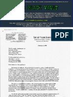 Correspondence between Senator Joseph Biden sent to the Department of Defense 2005-2008