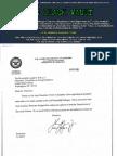 Correspondence between the Department of Defense sent to Senator Joseph Biden in 2005-2008
