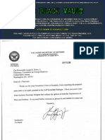 Correspondence between the Department of Defense sent to Senator Joseph Biden in 2005-2008