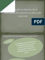 Magnitud y evolución de la matricula del sistema educativo