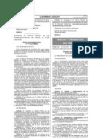Decreto Supremo 014-2012 Prima Textil Peru