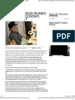 Senior Citizens Ruined by Obama Economy, Media Silent