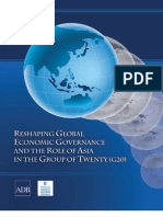 Reshaping Global Economic Governance and the Role of Asia in the Group of Twenty (G20)