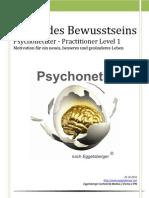 Magie_des_Bewusstseins_Psychonetiker - Practitioner Level 1