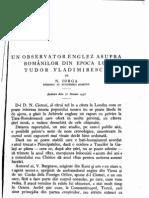 Iorga-Un Observator Englez Asupra Romanilor Din Epoca Lui Tudor Vladimirescu