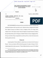 Texas TCPA Order - Adamcik v Credit Control Services, Inc. / CCS / Credit Collection Services