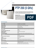 Cambium Networks PTP 250 (5 GHz) Specification
