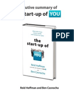 ExecutiveSummary- The Start Up of You