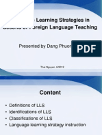 Classifications of Language Learning Strategies