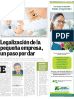 Legalización de la pequeña empresa, un paso por dar