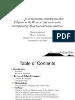 Exploring the Socio Economic Contribution, 25 Aug 2012, Miv