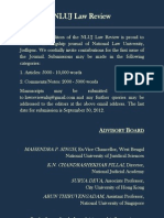 NLUJ Law Review Poster