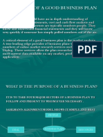 Elements of a Good Business Plan