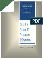 Vegetarian and Vegan Menu with photos 2012