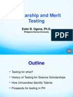Ester Ogena.scholarship and Merit Testing