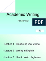 L3 Academic Writing Lecture 1