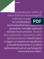 Lakens Haans Koole - De Psycholoog - Replicatie Onderzoek