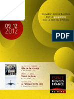 Programme de l'EMF de septembre 2012 à janvier 2013