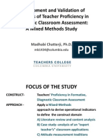 Chatterji Development and Validation of Indicators of Teacher Proficiency in Diagnostic Classroom Assessment