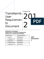 User Requirements Document (UR)
