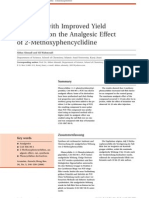 Synthesis with Improved Yield and Study on the Analgesic Effect of 2-Methoxyphencyclidine
