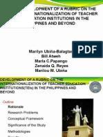 Balagtas, Ppango, Reyes, Ubiña, Atweh Rubric for Internationalization