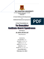 GUILLAIN BARRE SYNDROME CASE STUDY (group)