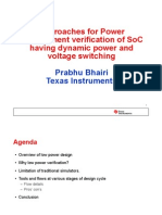 Approaches for Power Management Verification of SoC Having Dynamic Power and Voltage Switching