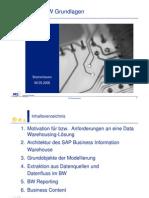 SAP BW Grundlagen