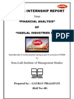Summer internship report_Vadilal
