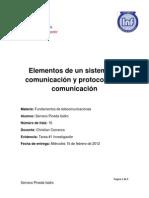Investigación Protocolos y elementos de un sistema de comunicación Isidro Serrano Pineda