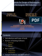 Software Module for RCC Column Design