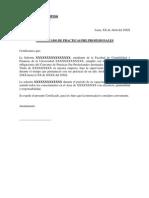 Certificado de Practicas Profesionales Modelo