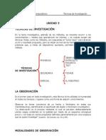 UNIDAD 5.Tecnicas de Invest