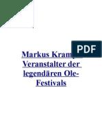 Markus Krampe Veranstalter der legendärenOle-Festivals