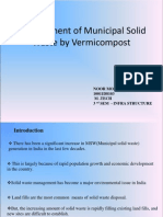Management of Municipal Solid Waste by Vermicompost