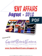 August Month's Current Affairs - Guide4BankExams