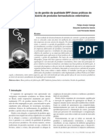 Aplicação do Sistema de Gestão de Qualidade BPF na Industria de Produtos Farmacêuticos Veterinários