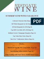 Westgate Wine Summer's End