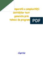14109677 Analiza Comparata a Complexitatii Entitatilor Text Generate Prin Tehnici de Programare