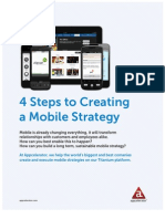Appcelerator 4Steps Create Mobile Strategy