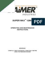 Super Max 12800 Manual