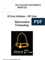 B.tech MDU Syllabus (IT) 4yr